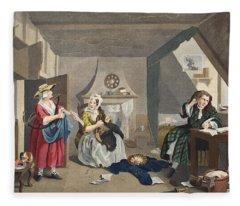 The Distressed Poet, Illustration Fleece Blanket