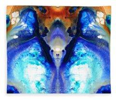 The Dragon - Visionary Art By Sharon Cummings Fleece Blanket