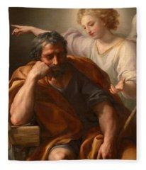 The Dream Of St Joseph Fleece Blanket