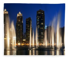 The Dubai Fountains Fleece Blanket