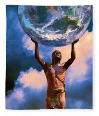 The Earth Is In Our Hands Fleece Blanket