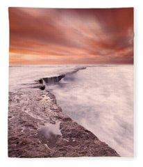 The Edge Of Earth Fleece Blanket