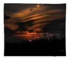 The Edge Of Night Fleece Blanket