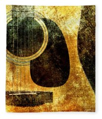 The Edgy Abstract Guitar Square Fleece Blanket