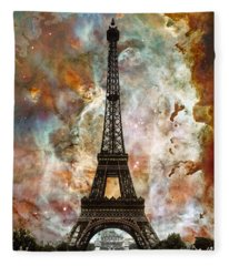 The Eiffel Tower - Paris France Art By Sharon Cummings Fleece Blanket