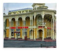 The Emporium Main Street Walt Disney World Fleece Blanket