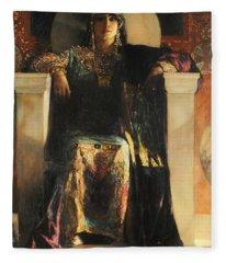 The Empress Theodora Fleece Blanket