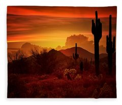 The Essence Of The Southwest Fleece Blanket