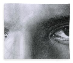 The Eyes Of The King Fleece Blanket