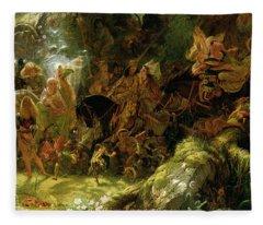 The Fairy Raid Fleece Blanket