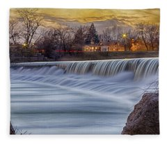 The Falls Of White River Fleece Blanket
