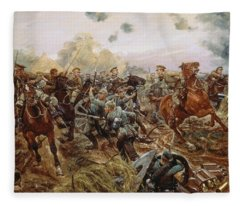 The First Vc Of The European War, 1914 Fleece Blanket