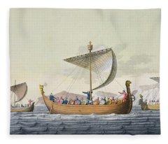 The Fleet Of William The Conqueror Fleece Blanket
