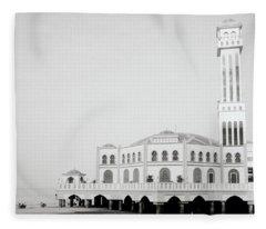 The Floating Mosque Fleece Blanket