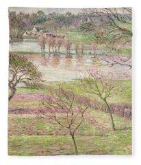 The Flood At Eragny Fleece Blanket
