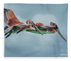 The Flying Pair Fleece Blanket