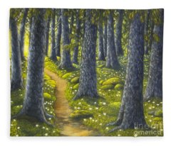 The Forest Path Fleece Blanket