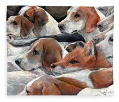 Fox Play Fleece Blanket