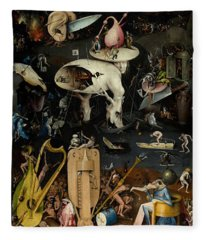 The Garden Of Earthly Delights. Right Panel Fleece Blanket