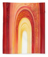 The Gate Of Light Fleece Blanket