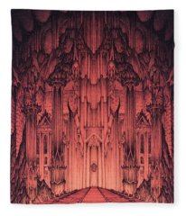 The Gates Of Barad Dur Fleece Blanket