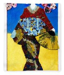The Geisha Fleece Blanket