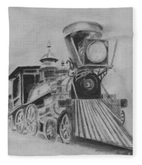 The General - Train - Big Shanty Kennesaw Ga Fleece Blanket