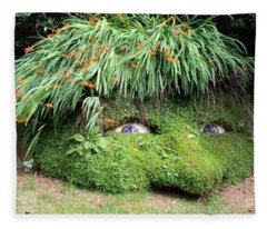The Giant's Head Heligan Cornwall Fleece Blanket