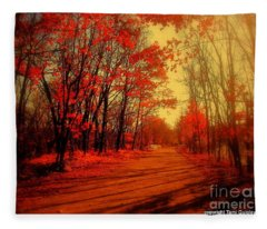 The Ginger Path Fleece Blanket