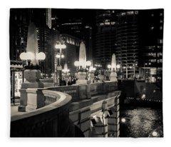 The Glow Over The River Fleece Blanket