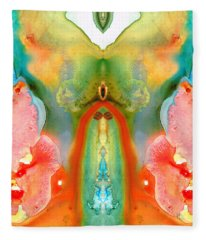 The Goddess - Abstract Art By Sharon Cummings Fleece Blanket
