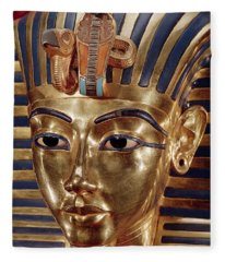 The Gold Mask, From The Treasure Of Tutankhamun C.1370-52 Bc C.1340 Bc Gold Inlaid Fleece Blanket