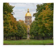 The Golden Dome Of Notre Dame Fleece Blanket