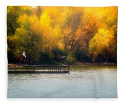 The Golden Hour Fleece Blanket