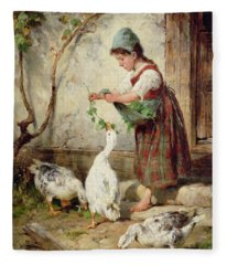 The Goose Girl Fleece Blanket