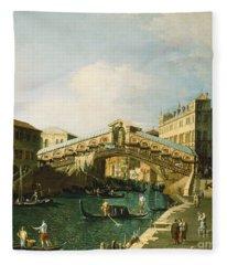 The Grand Canal   Venice Fleece Blanket