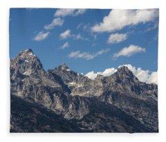 The Grand Tetons - Grand Teton National Park Wyoming Fleece Blanket