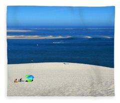 The Great Dune Of Pila In Arcachon Bay Fleece Blanket