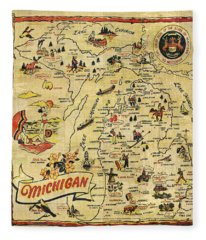 The Great Lakes State Fleece Blanket