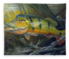 The Great Peacock Bass Fleece Blanket