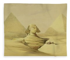 The Great Sphinx And The Pyramids Of Giza Fleece Blanket