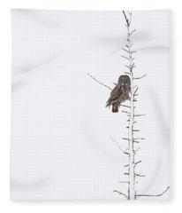 The Grey Hunter On White Fleece Blanket