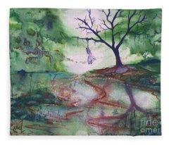 The Hanging Tree  Fleece Blanket