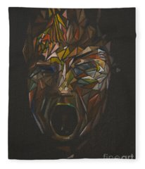 The Head Of Goliath - After Caravaggio Fleece Blanket