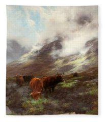 The Head Of The Glen, 1894 Fleece Blanket
