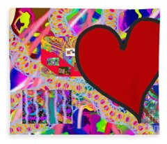 The Heart Of The Matter - Art Fleece Blanket