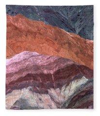 The Hill Of Seven Colors Argentina Fleece Blanket