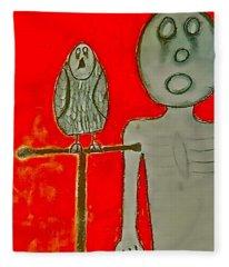 The Hollow Men 88 - Bird Fleece Blanket