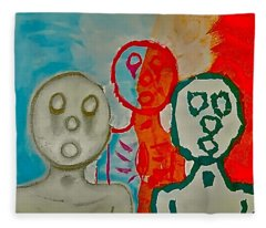 The Hollow Men 88 - Study Of Three Fleece Blanket