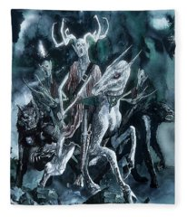 The Horned King Fleece Blanket